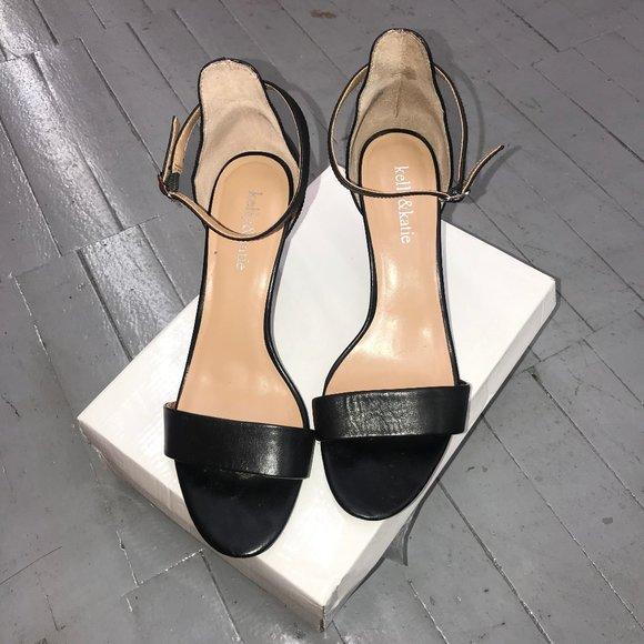 Kelly & Katie Shoes - Kelly & Katie Black Nadia-KK Sandal Sz 9